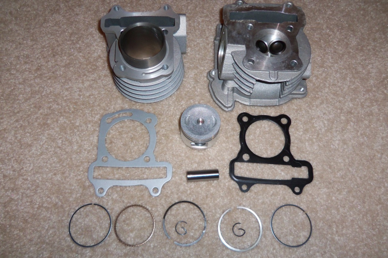 80cc Big Bore Kit 69MM - Cylinder Head Piston Rings Set Chinese Scooter  50cc 60cc GY6!!