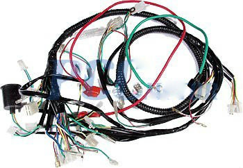 chinese gy6 150cc wire harness wiring assembly scooter moped sunl roketa Engine Wiring Harness