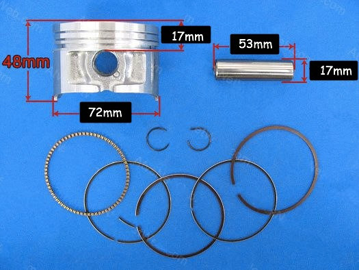 Piston Kit for Chinese 250cc ATV Engines [72mm]