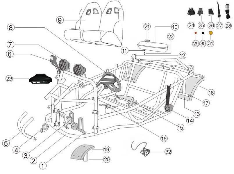 Buggy 150cc Go Kart Wiring Diagram