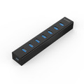 Orico 7 Port USB3.0 Hub for Windows XP / Vista / 7 / 8 / 10 / Linux / Mac OS - Black