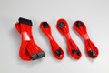 Phanteks sleeved extension cables Kit (Red)