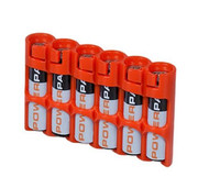 StorAcell Slimline AAA 6-Pack Case (Orange)