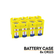StorAcell CR123 8-Pack Case (Yellow)