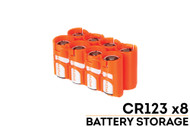 StorAcell CR123 8-Pack Case (Orange)