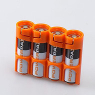 StorAcell SlimLine AA | AA Battery Case (Orange)