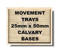 Movement Tray 25X50Mm Cab Base 3X2