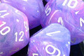 Wild Poly D10 Purple/White (10)