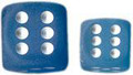 Frosted:16Mm D6 Carib Blu/Wht Block