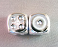 Pair Of Silver-Plated 16Mm D6 W/Pips