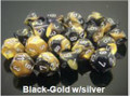 Gemini 6 Poly Black Gold Silver