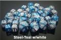 Gemini 6 Poly Steel Teal White