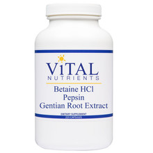 Designs for Health, Formula: VNBET - Betaine HCL Pepsin and Gentian Root Extract 225 Capsules