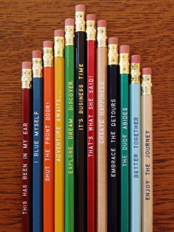 Super fun pencil mix and match by Earmark Social Goods.
