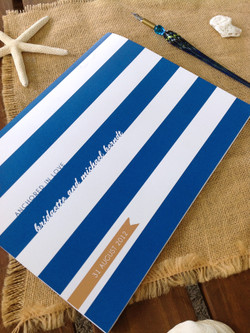 Anchored in Love Nautical Themed Wedding Guest Book