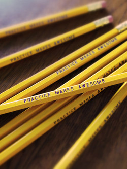 Practice Makes Awesome Pencil 6 Pack