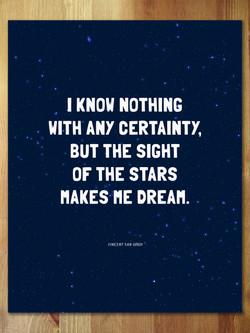 Vincent's Stars Art Print
