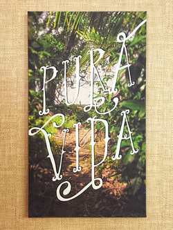 """Pura vida is a characteristic Costa Rican phrase. It literally means pure life, however, the real meaning is closer to """"plenty of life"""", """"full of life"""", """"this is living!"""", """"going great"""", or """"real living"""". / Great canvas stretched art print!"""
