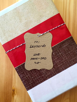 Set of 24 Faux Bois Gift Tags