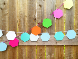Hexagon Party Garland