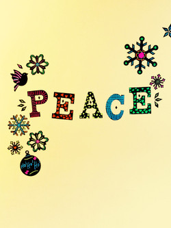 Peace Chalkboard Wall Decals... decorate them yourself! Super fun.