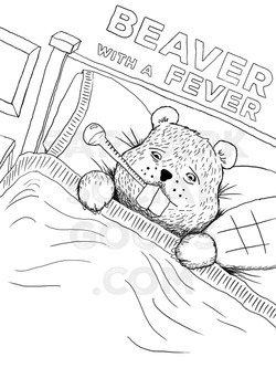 Beaver with a fever