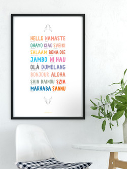 Wordly Hello Multi-Language Printable Art