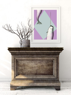 Narwhal printable art by Earmark Social Goods