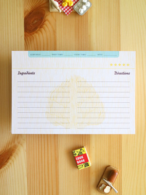 Cute Artichoke Recipe Cards. Love that they are recycled and double-sided!