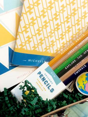 Suitcase Stationery Gift Set