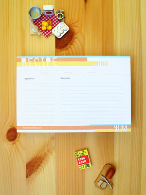 Super fun recipe cards. Love that they are double-sided and eco-friendly. Great color palette too!