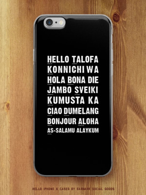 Hello Languages iPhone case