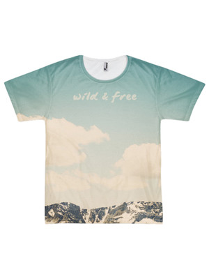 Wild and Free Short sleeve men's t-shirt (unisex)