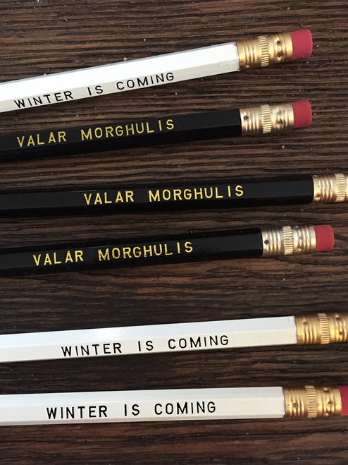 Awesome Game of Thrones pencil 6 pack.