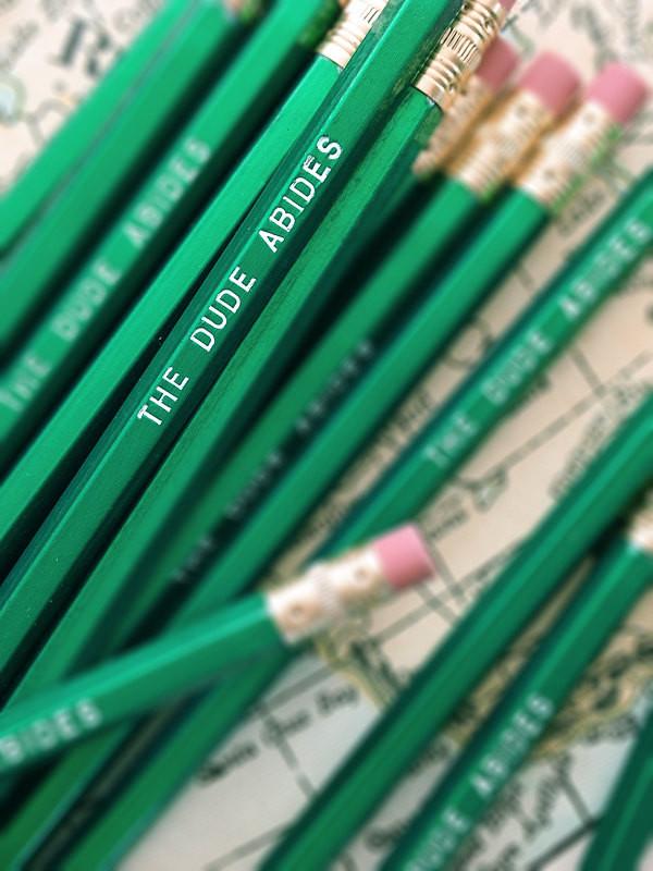 The Dude Abides Pencil 6 Pack