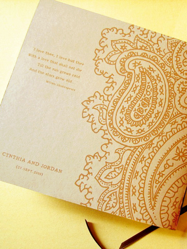 Paisley Wedding Guest Book