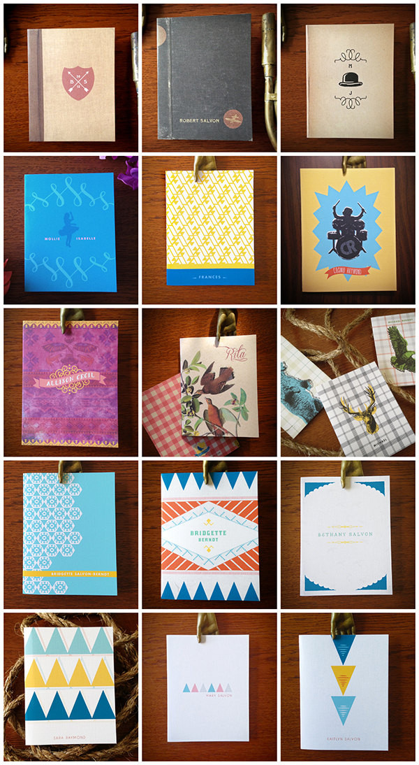Choose your Personalized Cards from this selection of designs. You may also choose 1 of these styles for the personalized notebook.