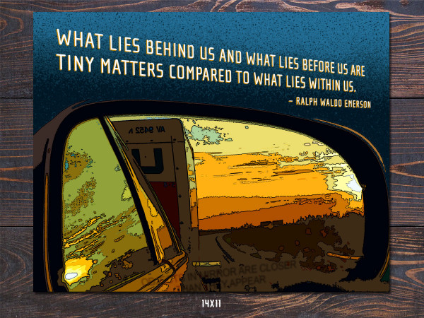 Rearview Mirror Art Print