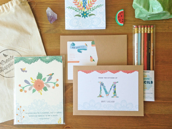 See the Lovely Set here with the recipe cards tucked neatly inside their kraft sleeve.