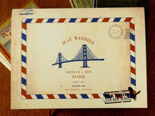 Carte Postale Airmail Guest Book