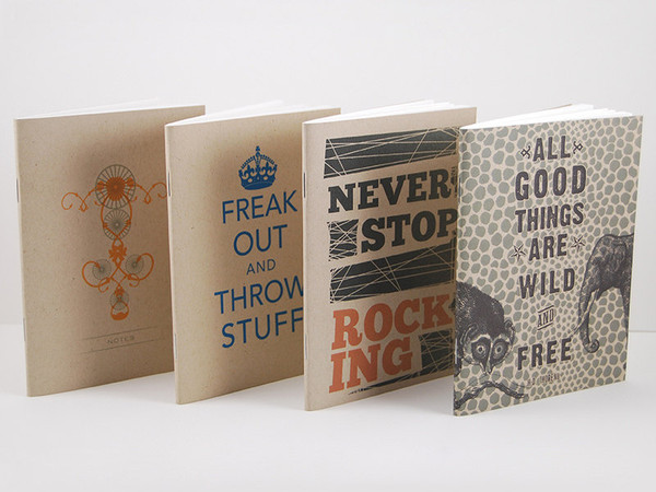 4 Kraft Series Notebooks