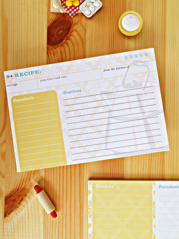 Fun, retro-styled recipe cards. Love that they are double sided and eco friendly!