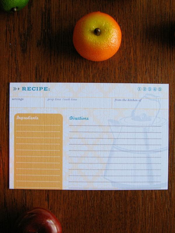 12 Tea Time Retro Recipe Cards