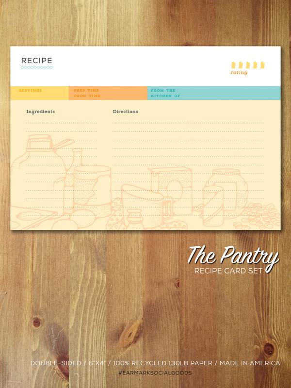 12 Pantry Recipe Cards