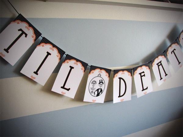 Til Death Wedding Paper Party Banner