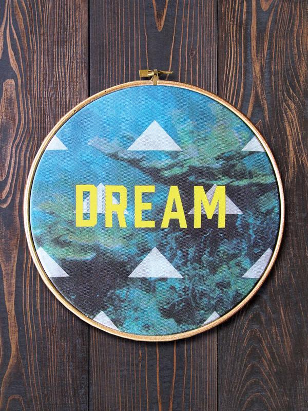 Dream Circular Hoop Art