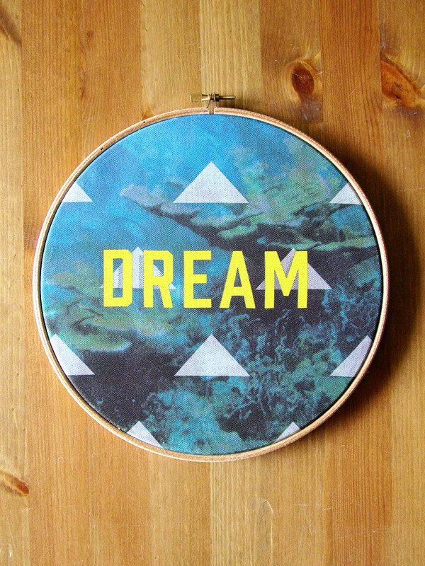 Dream Fabric Hoop Art