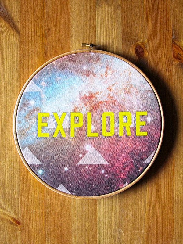 Explore Fabric Hoop Art
