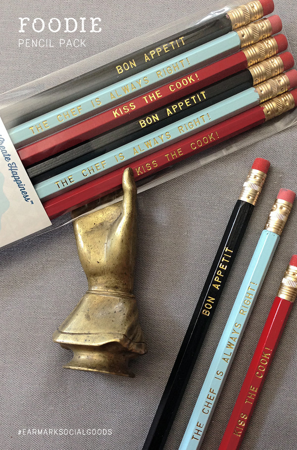 Love these super fun foodie-inspired pencils by Earmark Social Goods!