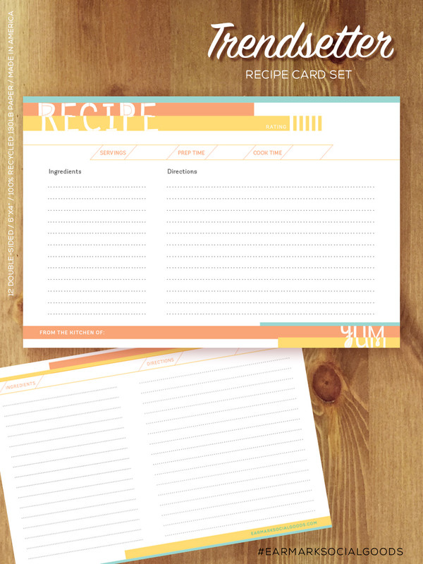 Cool and smart recipe cards.